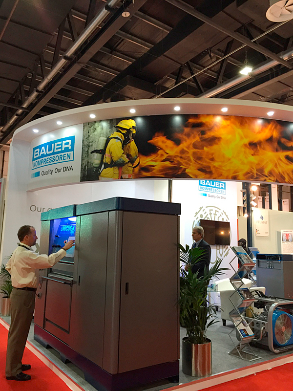 The eye-catching BAUER stand featuring the new UNICUS 4i