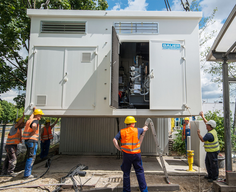 Natural gas filling station installation – Project: ARAL, Munich, Schenkendorfstraße