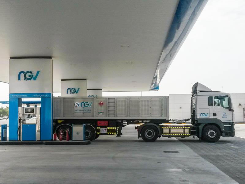 10 CNG trailers of this kind can refuel simultaneously